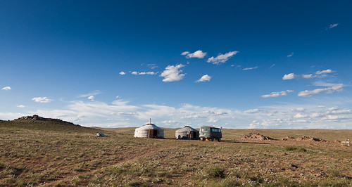 travel camp clouds landscape adventure mongolia gobi ger deset dundgovi