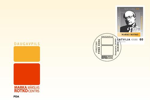 """""""Latvijas Pasts"""" izdod pastmarku vienam no 20.gs. nozīmīgākajiem gleznotājiem - Markam Rotko"""