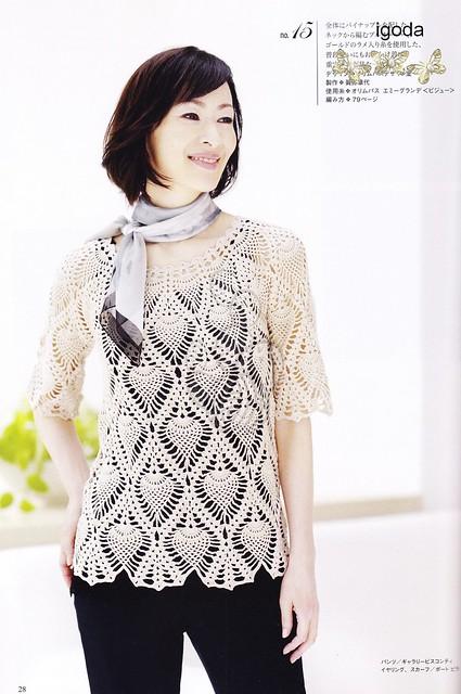 blusa de piñas modelo