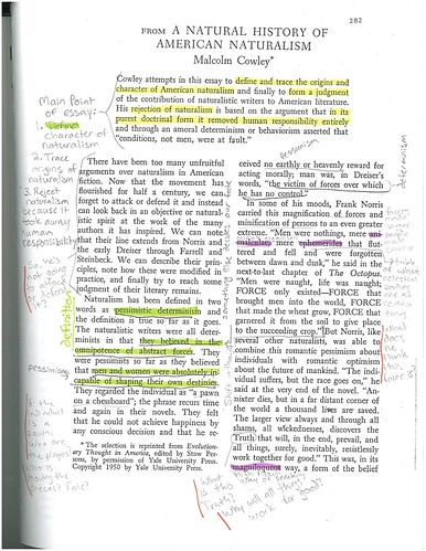 annotated example writing