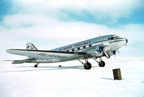 Alaska Airlines Douglas DC-3 by tormentor4555