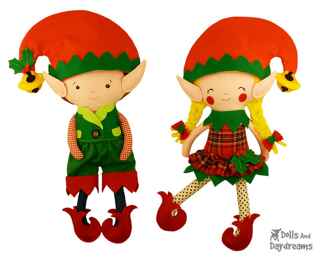 Elf doll clothes sewing patterns