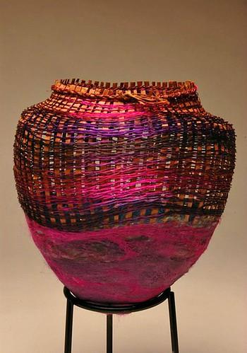 birghtly colored woven kokoro basket