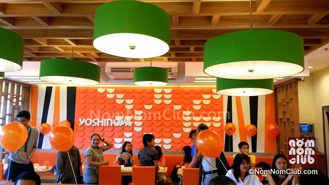 Yoshinoya Orange Wall of Bowls