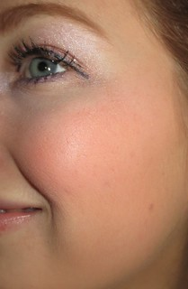 IT Cosmetics Airbrush Blush Stain in Sweet Cheeks on cheeks