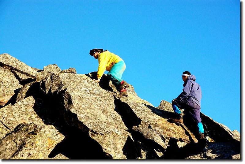 攀越南湖主稜 2