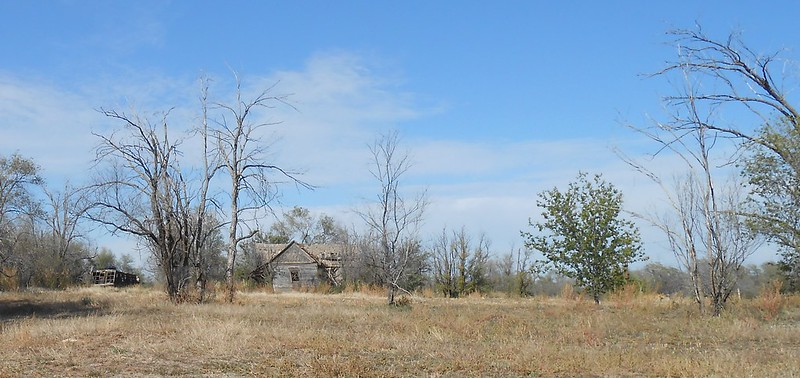Ghost town near Texas border