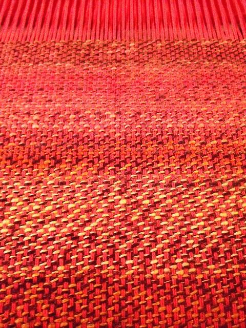 I've finally finished one shuttle's worth of yarn....