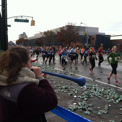 Another successful marathon cheering day in the books. Why did no one tell me my hair looked so odd in the back?