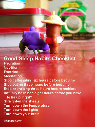 good sleep habits checklist