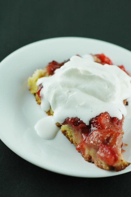 Strawberry Rhubarb Pie Bread Pudding