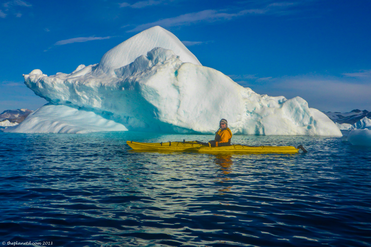 Each day was special kayaking ion Greenland