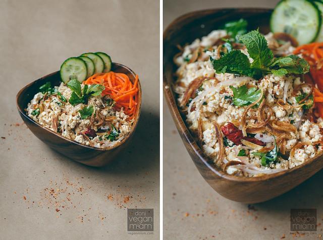 Lap Tao Hoo (Spicy Minced Tofu Salad)
