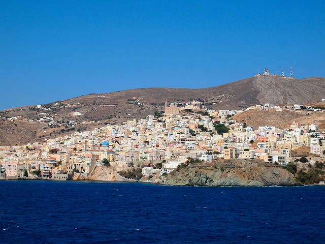 Syros from the ferry