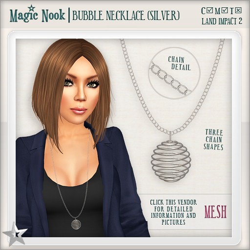 [MAGIC NOOK] Bubble Necklace (Silver) MESH