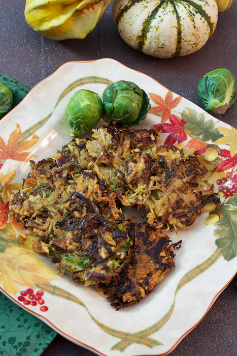 Brussels Sprouts Latkes #SundaySupper