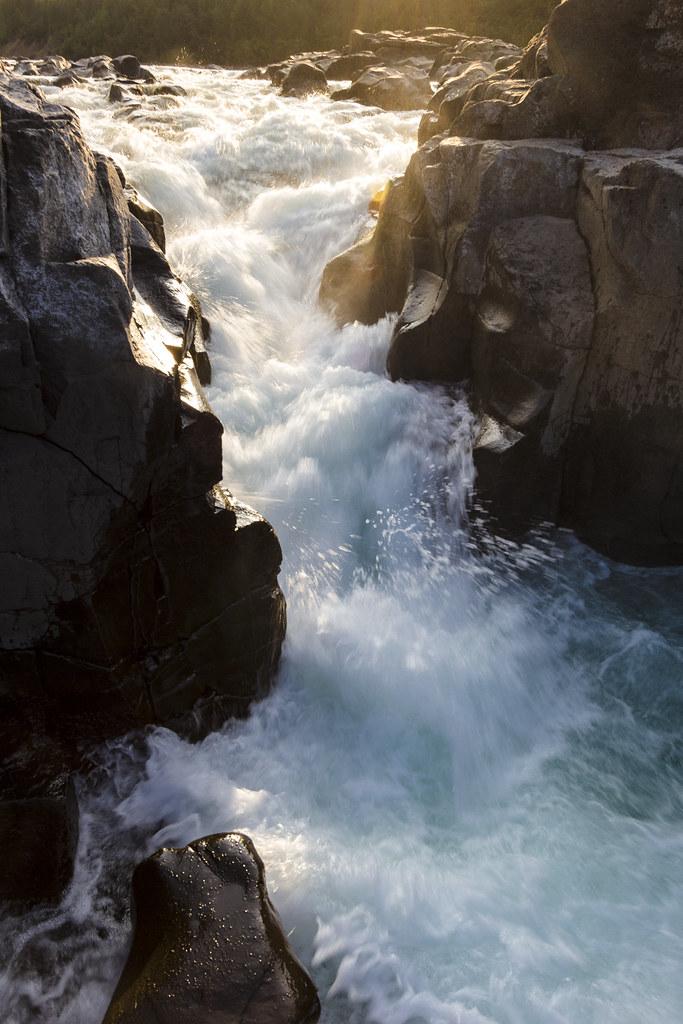 Putorana Plateau waterfall