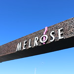 Melrose sign looking up