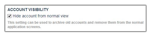 Account Visibility Setting