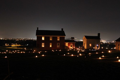 Burkholder-Myers house, CrossRoads Heritage Center, December 7, 2013 by MennoniteArchivesofVirginia