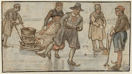 007-Patinadores en el hielo , Hendrick Avercamp, ca 1615 - 1634-Rijkmuseum
