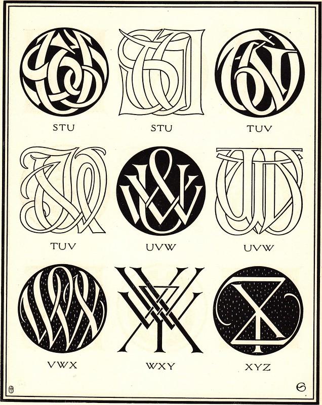 Monograms Ciphers By AA Turbayne 1912 L