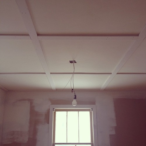 Master bedroom ceiling. I squealed.