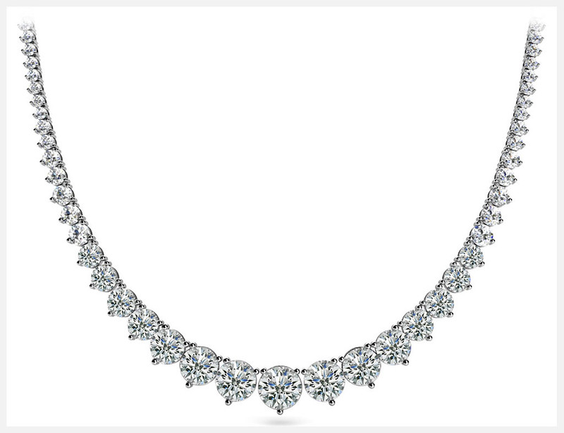 Anjolee Graduated Red Carpet Diamond Necklace