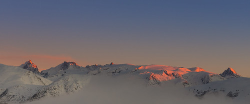 sunset snow mountains alps landscape skiing view alpedhuez inspiredbylove