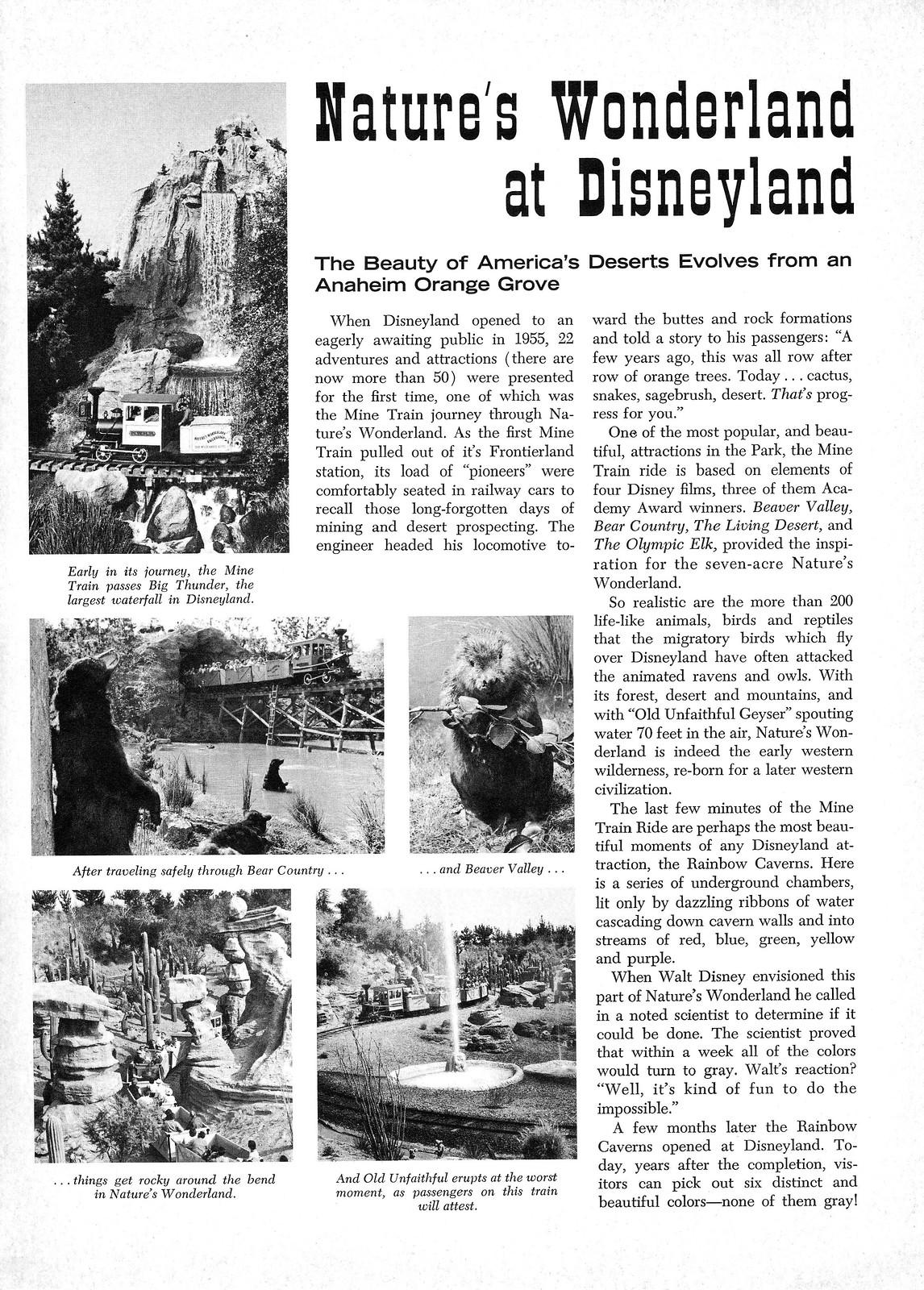 Disneyland Vacationland Fall 1967 09 - Nature's Wonderland