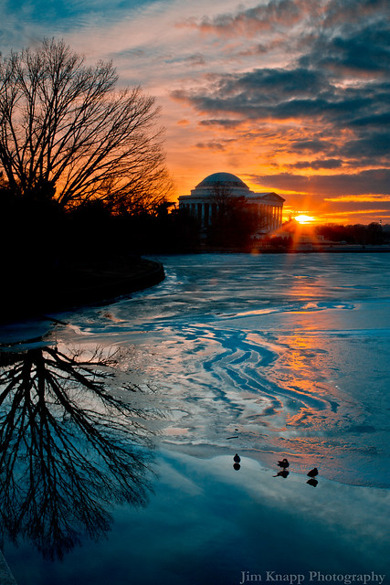 Sunset, Jefferson Memorial