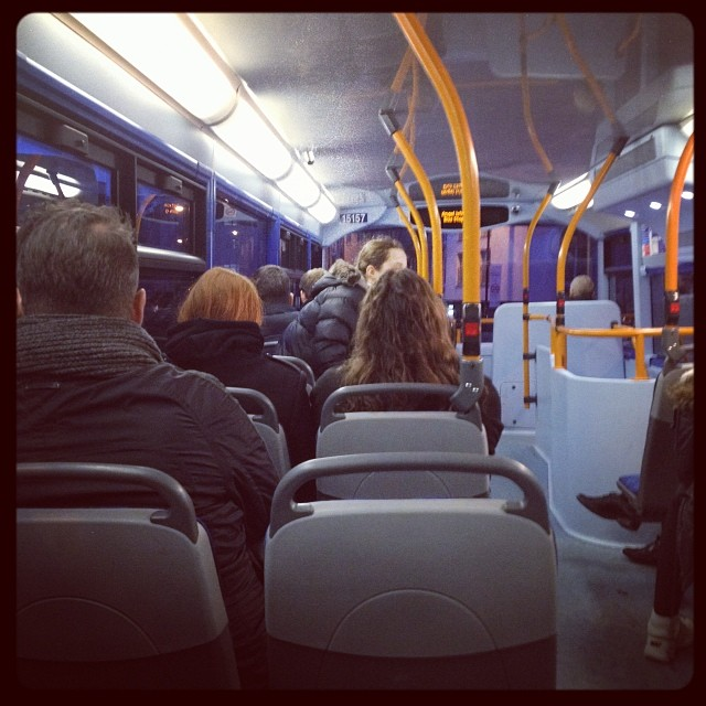 Right at the back of the bus this evening! #london #bus