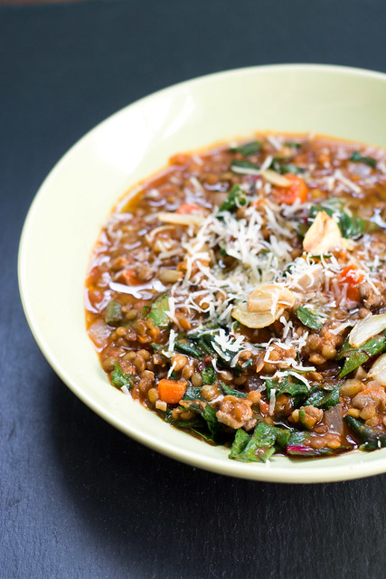 Lentil Soup with Sausage, Chard and Garlic - Cook Like A ChampionCook ...