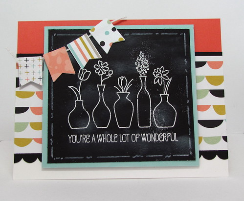 Vivid Vase Chalkboard by Andrea G71