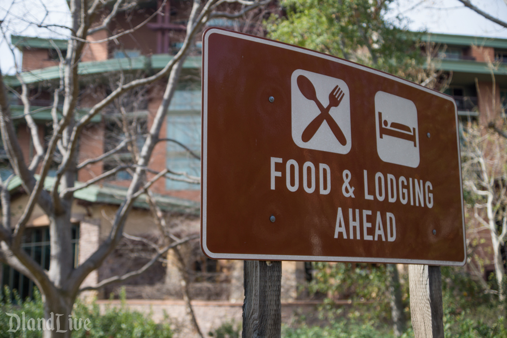 Grand Californian Food and Logding sign