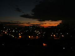 Anochecer habanero visto  desde mi ventana