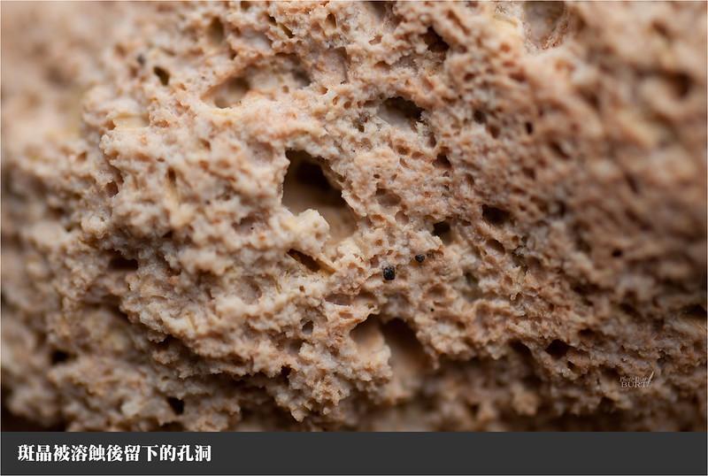 斑晶被溶蝕後留下的孔洞