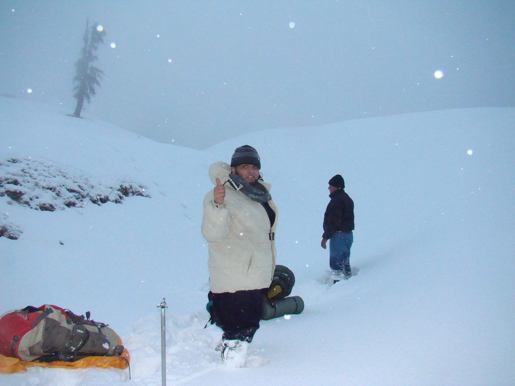 Winter Trek And Night Camping on Mukshpuri Top - Road ...