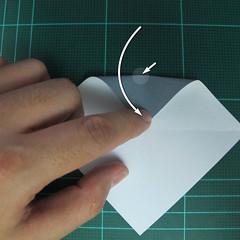 วิธีพับกระดาษเป็นรูปลูกสุนัข (แบบใช้กระดาษสองแผ่น) (Origami Dog) 008