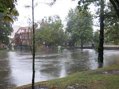 Flooded Avon River on Oxford Terrace