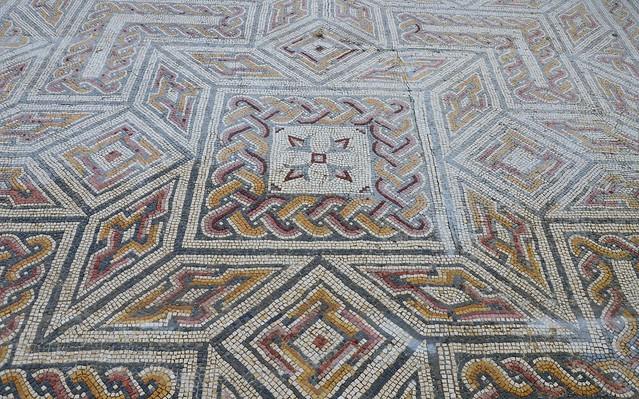 Mosaic floor, Conimbriga, Lusitania, Portugal