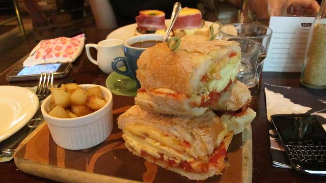 Wild Honey Breakfast Hangover Sandwich
