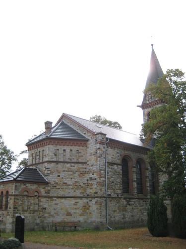 1884 Karith polygonale Apsis neoromanische evangelische Kirche St. Dorotheen Thälmannstraße in 39291