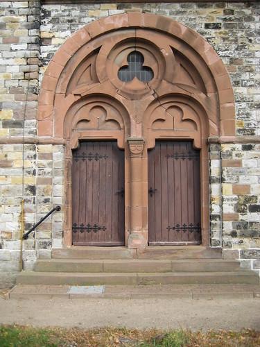 1884 Karith Portal neoromanische evangelische Kirche St. Dorotheen Thälmannstraße in 39291