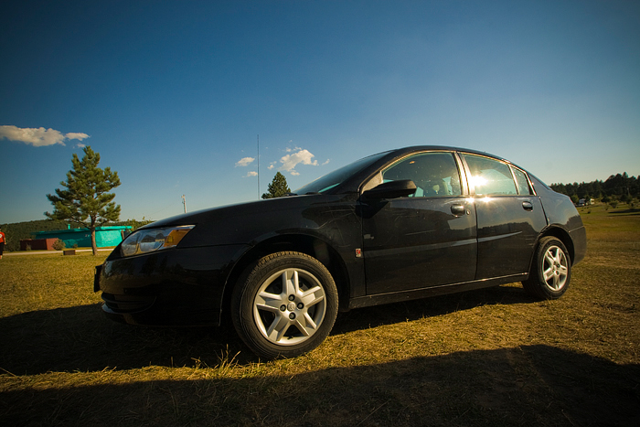 South Dakota Road Trip - My Car at a campsite