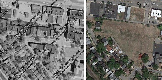 Lucier Park 1958 and Today