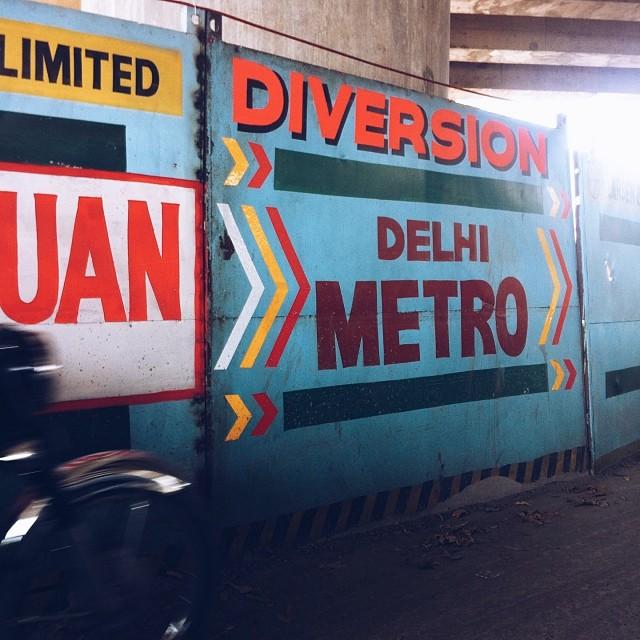 Diversions aplenty in #delhi #india #vscocam
