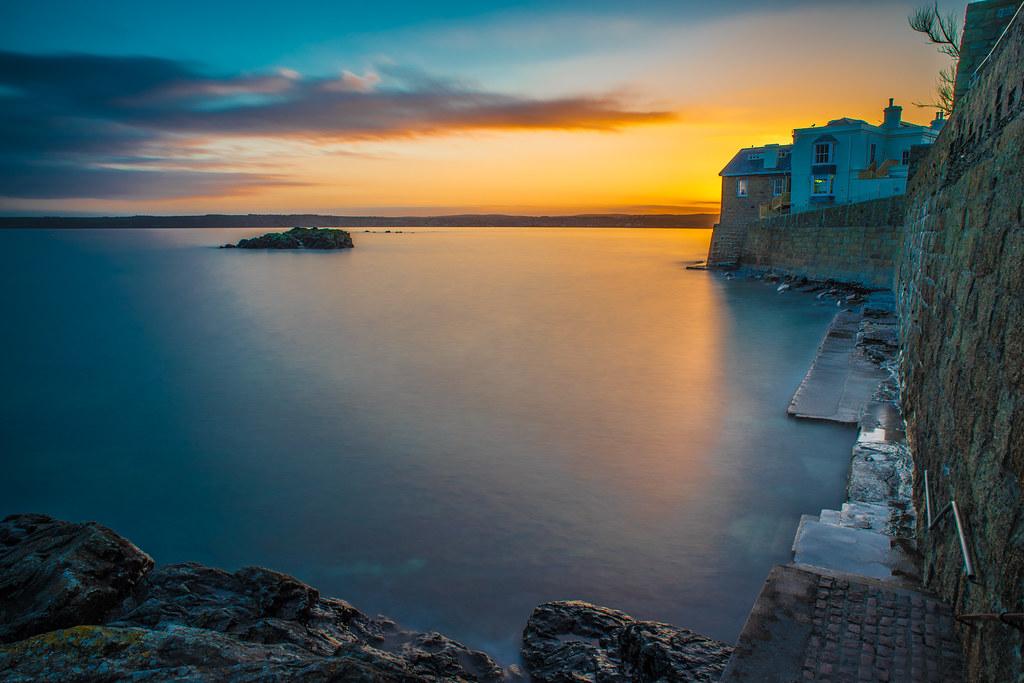 Sunset in Marazion, Cornwall, United Kingdom picture