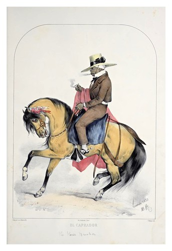 003- El capeador-Recuerdos de Lima, álbum, tipos, trajes y costumbres Vol 2-1857-Bonaffé A.A.