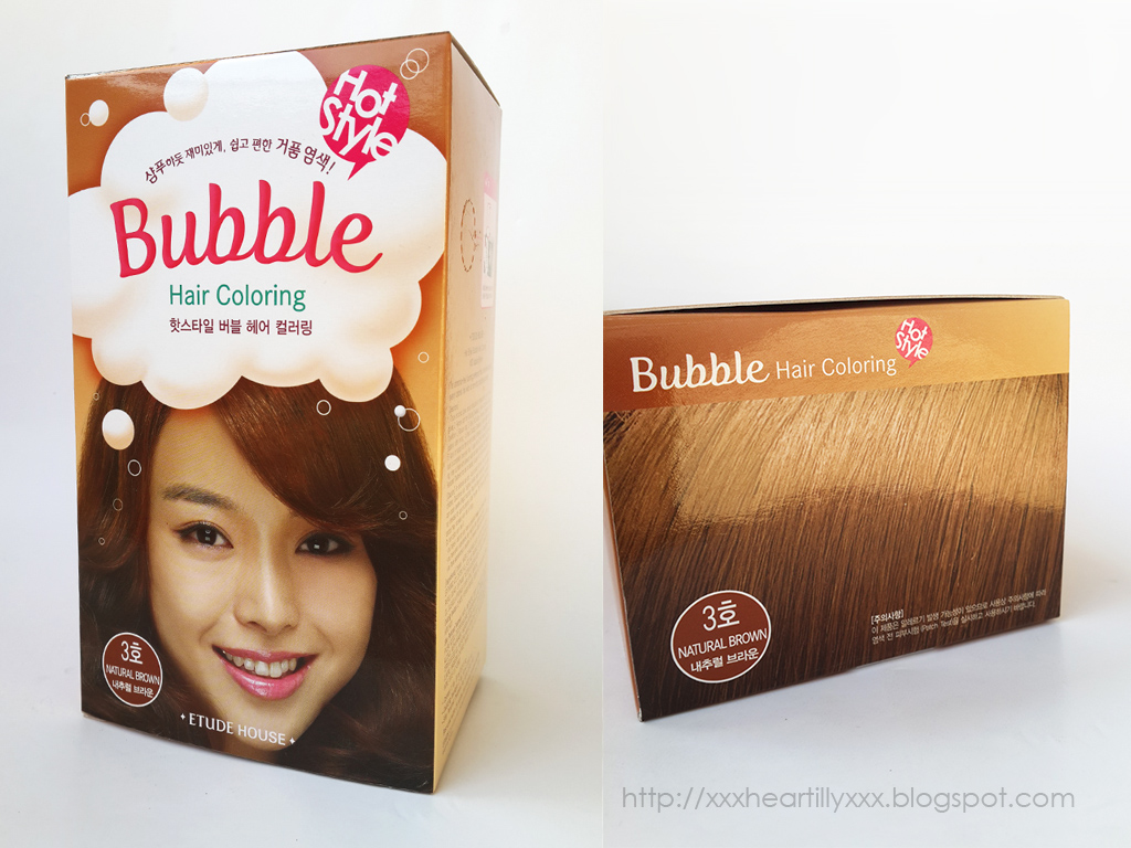 Review Etude House Hot Style Bubble Hair Coloring In Natural Brown Claren Stefanie Beauty Lifestyle Hobby Blog